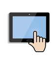 click on the touch screen tablet vector image
