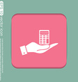 hand holding a calculator vector image