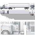 semi-truck vector image