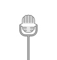 Retro microphone on white background Accessory for vector image