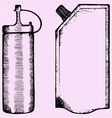 Bottles ketchup packing vector image