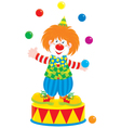 Circus clown juggler vector image