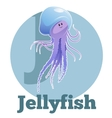 ABC Cartoon Jellyfish2 vector image