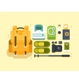 Travel or vacation accessories vector image