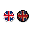 Grunge British flag badges vector image