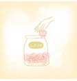 Jars with hearts vector image