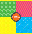 mosaic diagonal lines and grid textures vector image