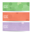 set of three colorful graphic horizontal banners vector image
