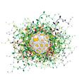 spring floral sphere vector image