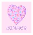 summer heart of flowers vector image