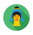 Karen long neck woman with traditional coils icon vector image
