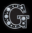 g letter made with diamonds isolated on vector image vector image