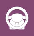 icon steering wheel vector image vector image