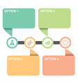 text box with line business strategy diagram vector image vector image
