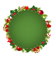 Green Speech Bubble With Christmas Icon vector image
