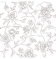Seamless Floral Roses Background vector image vector image