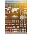 big business flat infographic elements set for vector image