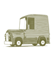 Engraved Cartoon Car vector image vector image