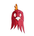 cartoon of angry rooster vector image