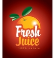 fresh juice with picture orange vector image vector image