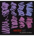 Pastel strokes set 2 vector image vector image