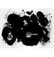 Black grunge ink banner vector image