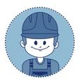 Character builder in uniform vector image