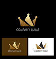 gold crown logo vector image