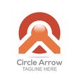 letter circle arrow design icon vector image