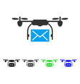 Mail delivery drone flat icon vector image