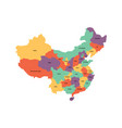 map of administrative provinces of china vector image