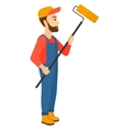 Painer with paint roller vector image