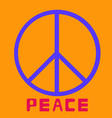 peace symbol icon friendship pacifism on vector image
