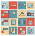 Real estate flat line icons vector image