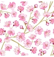 Spring flowers wallpaper vector image