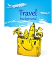 Travel background color vector image