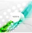 Colorful blurred waves with lights vector image vector image