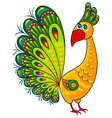 Peacock Cartoon african wild animal character vector image vector image