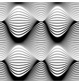 abstract seamless pattern black wavy stripes on a vector image