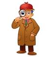 detective boy vector image