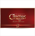 Merry Christmas red background vector image