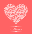 rose heart pink vector image vector image