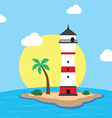 beach lighthouse seashore view vector image