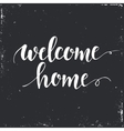 Welcome home Conceptual handwritten phrase vector image