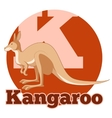ABC Cartoon Kangoroo2 vector image