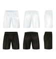 Black And White Shorts Icon Set vector image