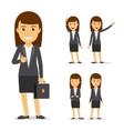 Businesswoman cartoon character vector image