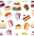 Cake seamless background vector image