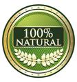 Hundred Percent Natural vector image