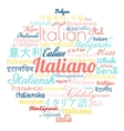 Italian language foreign vector image
